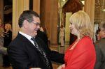 Руководитель бюро Службы внешней разведки Российской Федерации Сергей Иванов и Елена Кавтарадзе